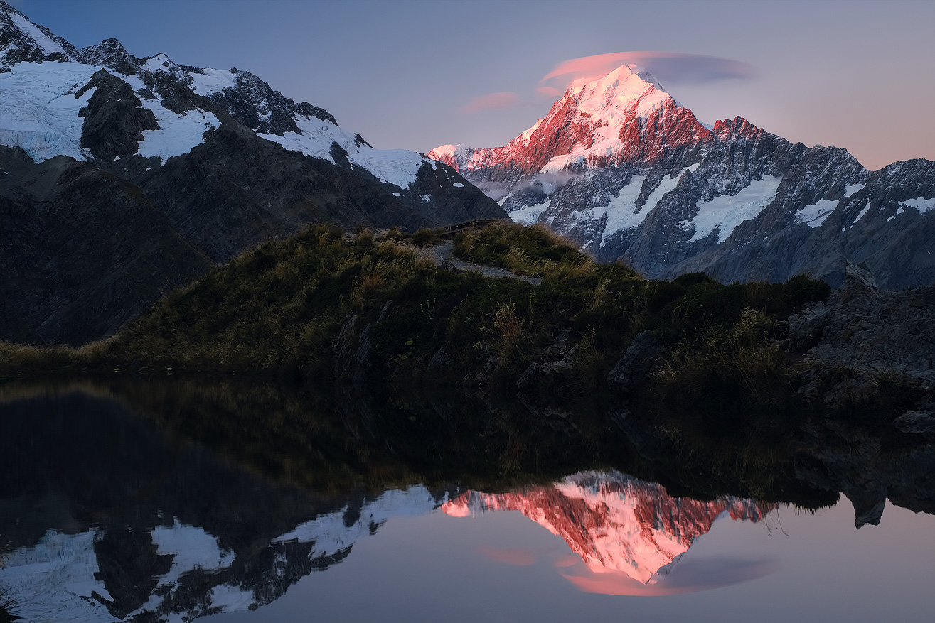 Sunset over Mt. Cook, New Zealand
