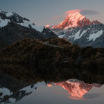 Sunset over Mt. Cook, New Zealand by Nils Leonhardt