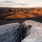 Sunset, Elbsandsteingebirge, Germany by Nils Leonhardt