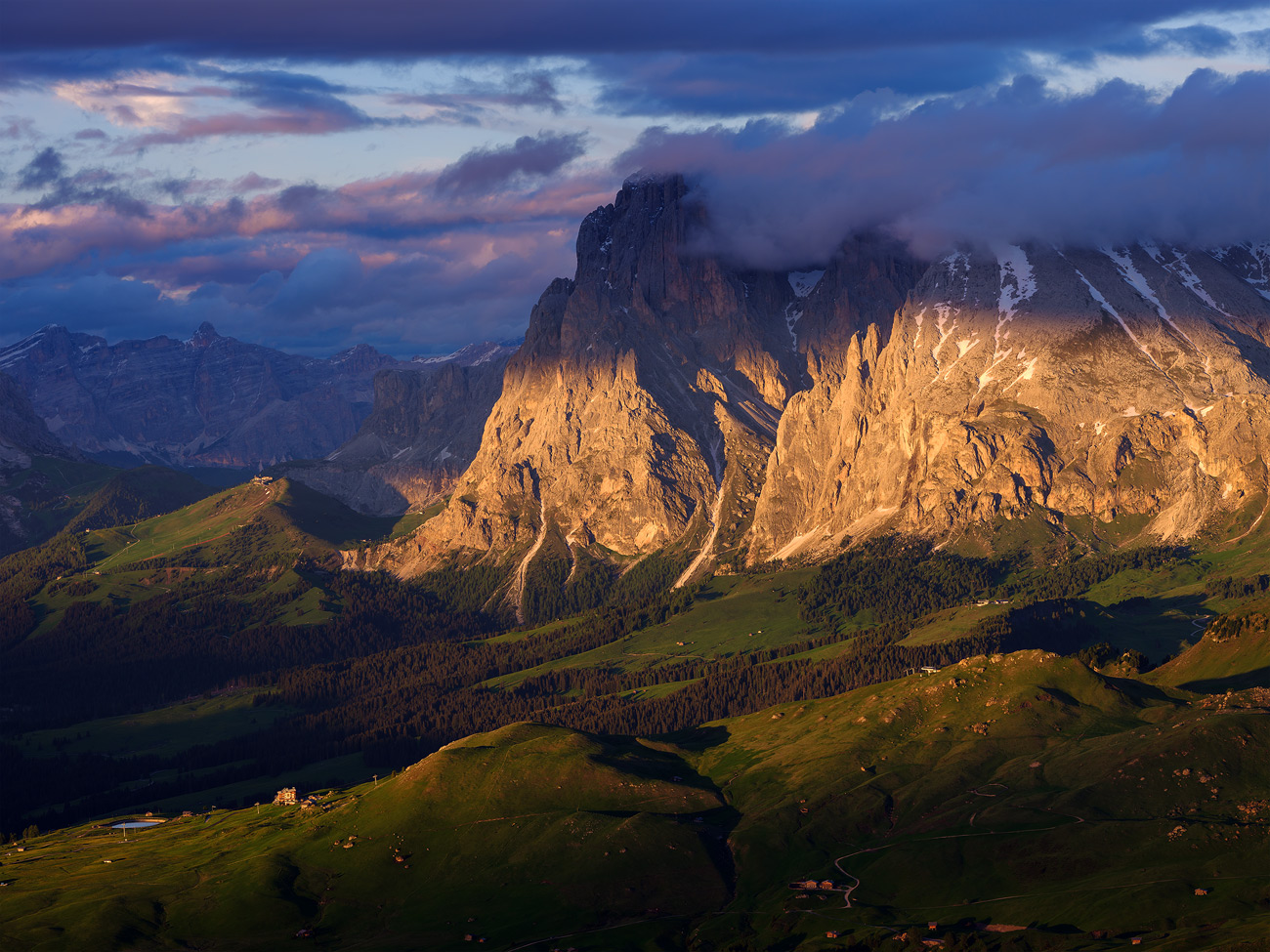 Langkofel Group, Dolomites, South Tyrol, Italy by Nils Leonhardt