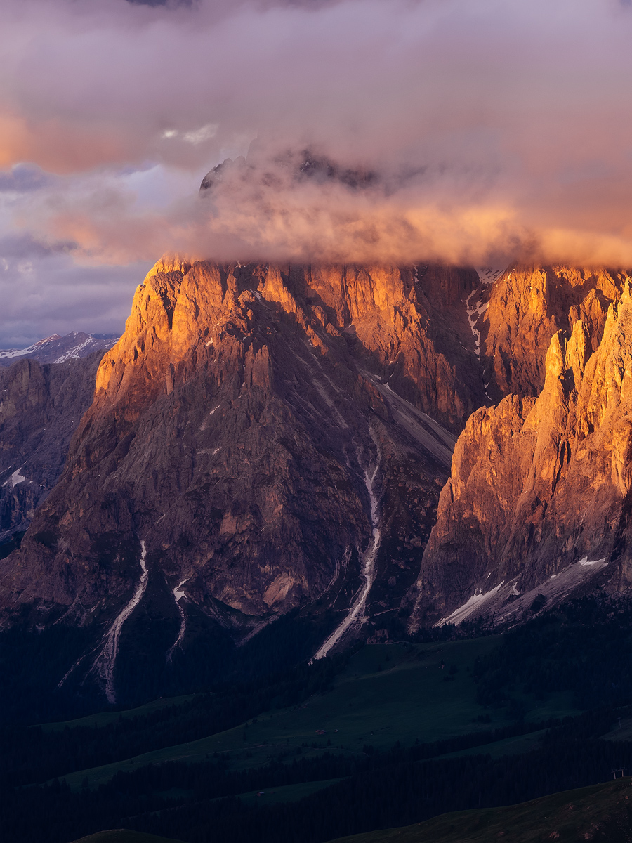 Last Light on Langkofel, Dolomites, South Tyrol, Italy by Nils Leonhardt