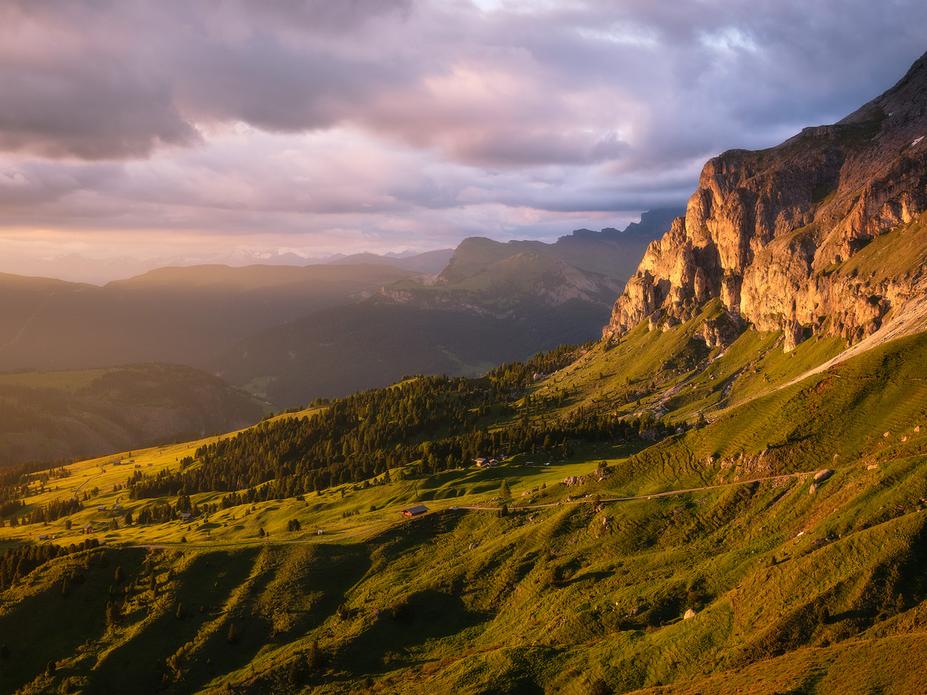 Light Galore, Plattkofel, Dolomites, South Tyrol, Italy by Nils Leonhardt