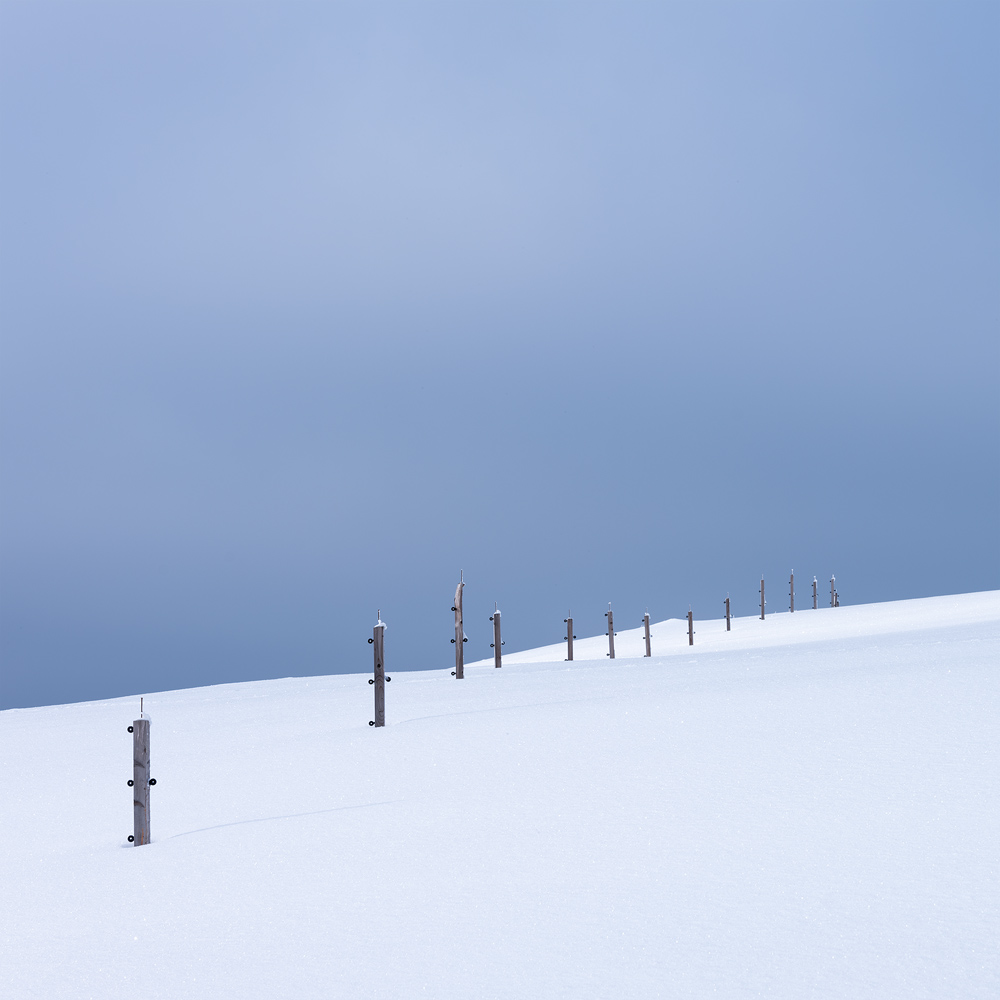 Collection of Wooden Poles, Ore Mountains, Germany by Nils Leonhardt